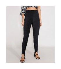 calça legging de veludo cotelê cintura alta preto