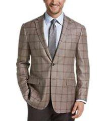 joseph abboud limited edition tan windowpane modern fit sport coat