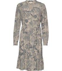 zimri dress knälång klänning beige minus
