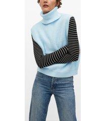 turtleneck knitted vest