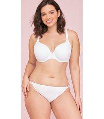 lane bryant women's cotton double string bikini panty 14/16 white