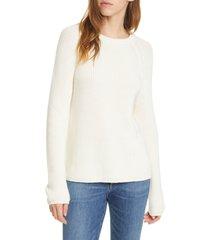 women's jenni kayne fisherman sweater, size xx-large - ivory