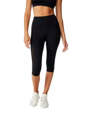 cotton on binded mesh capri tights
