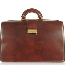 forzieri designer travel bags, brown italian leather buckled large doctor bag