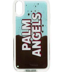 palm angels iphone xr liquid logo case