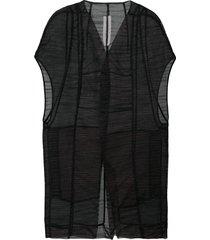 rick owens mantelette jacket - black