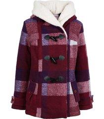 giacca in misto lana con fodera effetto peluche (rosso) - john baner jeanswear
