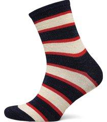 dory stripe lingerie socks regular socks blå becksöndergaard