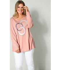 shirt janet & joyce roze::grijs