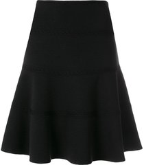 alaïa pre-owned skate lace detail skirt - black
