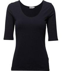 cotton stretch scoop neck top t-shirts & tops short-sleeved blå filippa k