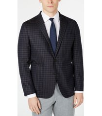 cole haan men's grand. os wearable technology slim-fit stretch plaid sport coat