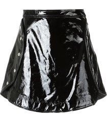 olympiah patent leather skirt - black