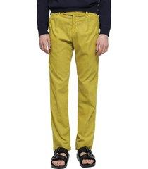 massimo alba mustard ionio2 trousers