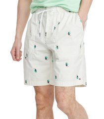 "tommy hilfiger men's toucan seersucker 9"" shorts"