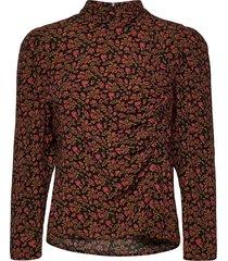 elaygz blouse ma20 blouses short-sleeved zwart gestuz