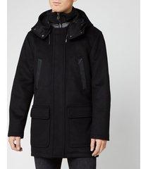 mackage men's myles parka jacket - black - xl
