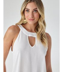 blusa abertura frente - zinzane feminina - feminino