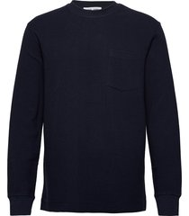adhil crew neck 11696 sweat-shirt trui blauw samsøe samsøe