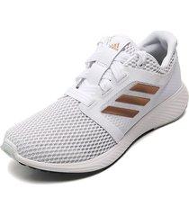 tenis running blanco-cobre adidas performance edge lux 3 w