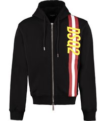 dsquared2 cotton full zip hoodie