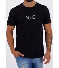 camiseta new era botany nyc preta masculina