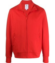 y-3 high collar zipped sports jacket - red