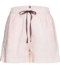 abo linen short shorts flowy shorts/casual shorts rosa tommy hilfiger