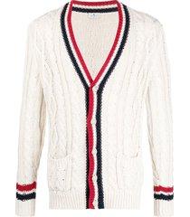 etro braided knit cardigan - neutrals