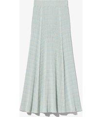 proenza schouler white label geo rib knit skirt 464/blue xl