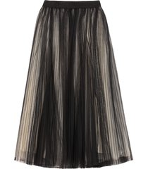 brunello cucinelli pleated tulle skirt