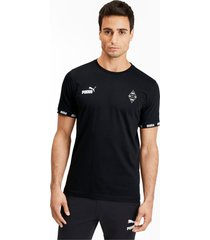 borussia mönchengladbach football culture t-shirt voor heren, zwart/aucun, maat m   puma