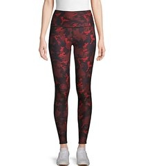 camouflage-print high-rise leggings