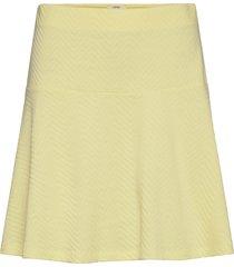 skirts knitted knälång kjol gul esprit casual