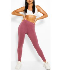 basic high waist ankle grazer legging, taupe