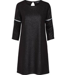 sisters point dress gings black/silver zwart