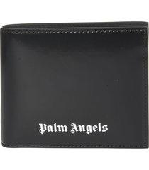 palm angels logo bifold wallet
