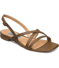 string flat square shoes summer shoes flat sandals grön apair