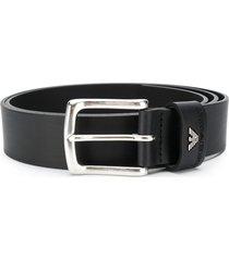emporio armani classic belt - black