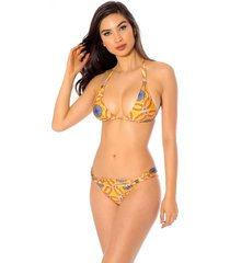 biquini mos beachwear labadee mandala amarelo - amarelo - feminino - dafiti