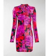 richard quinn floral print mini dress