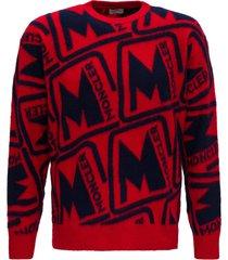 moncler allover logo sweater