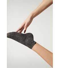 calzedonia active sport ankle socks woman grey size tu