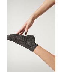 calzedonia active sport ankle socks woman grey size tu