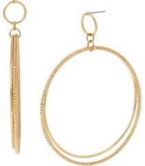 """jessica simpson gypsy hoop earrings, 3.25"""""""
