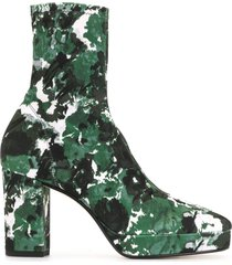 kenzo glove aquarelle platform ankle boots - green