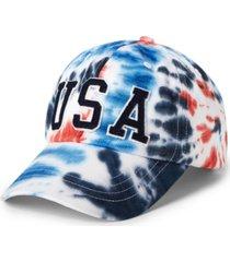 polo ralph lauren men's team usa tie-dye chino ball cap