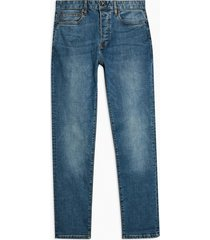 mens blue mid wash stretch slim jeans