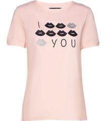 kiss t-shirt top rosa missya
