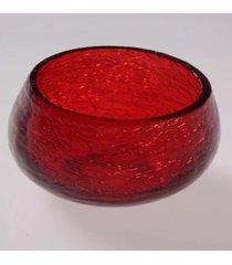 cachepot vela- pashmina- craquelado- vermelha